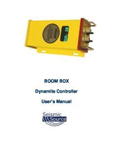 BOOM BOX. Dynamite Controller. User s Manual