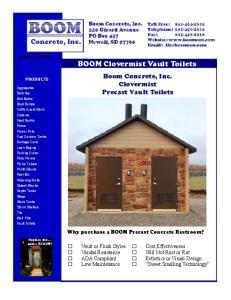 BOOM Clovermist Vault Toilets