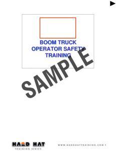 BOOM TRUCK OPERATOR SAFETY TRAINING