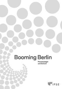 Booming Berlin Pressespiegel und Vorwort