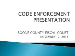 BOONE COUNTY FISCAL COURT NOVEMBER 17, 2015
