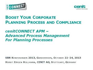 BOOST YOUR CORPORATE PLANNING PROCESS AND COMPLIANCE