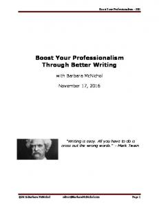 Boost Your Professionalism Through Better Writing