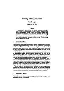 Boosting Inlining Heuristics