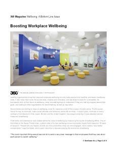 Boosting Workplace Wellbeing