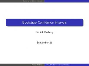 Bootstrap Confidence Intervals