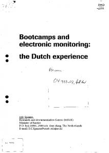 Bootvamps and electronic monitoring: the Dutch experience