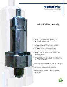 Boquilla Filtro Serie M
