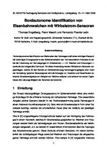 Bordautonome Identifikation von Eisenbahnweichen mit Wirbelstrom-Sensoren