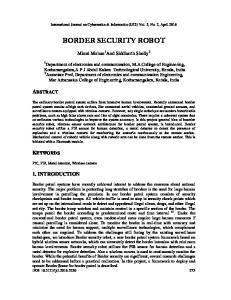 BORDER SECURITY ROBOT