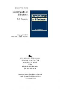 Borderlands of Blindness