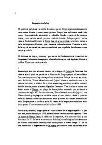 Borges contra la ley