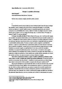 Borges: La palabra silenciosa