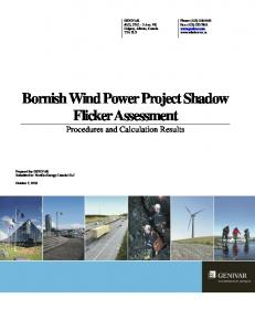 Bornish Wind Power Project Shadow Flicker Assessment