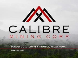 BOROSI GOLD-COPPER PROJECT, NICARAGUA