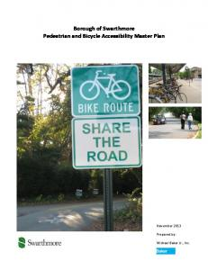 Borough of Swarthmore Pedestrian and Bicycle Accessibility Master Plan