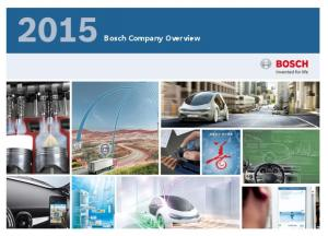 Bosch Company Overview