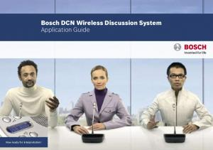 Bosch DCN Wireless Discussion System Application Guide