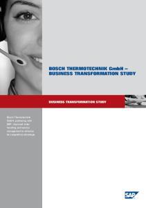 BOSCH THERMOTECHNIK GmbH BUSINESS TRANSFORMATION STUDY