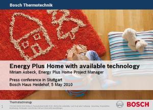 Bosch Thermotechnik. Thermotechnology