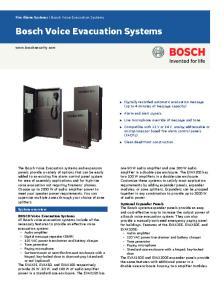 Bosch Voice Evacuation Systems