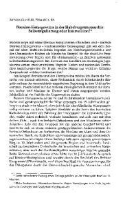 Bosnien-Herzegowina in der Habsburgermonarchie: Selbstregulierung oder Intervention?*