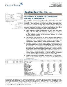 Boston Beer Co. Inc. (SAM)