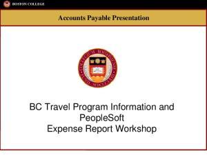 BOSTON COLLEGE Accounts Payable Presentation