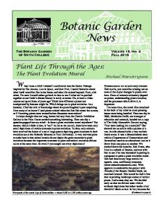 Botanic Garden News. Plant Life Through the Ages: The Plant Evolution Mural. Michael Marcotrigiano. Volume 18, No. 2