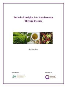 Botanical Insights into Autoimmune Thyroid Disease