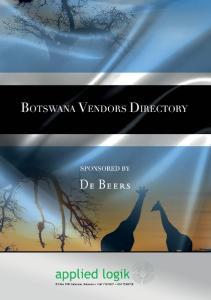 Botswana Vendors Directory - 1 -