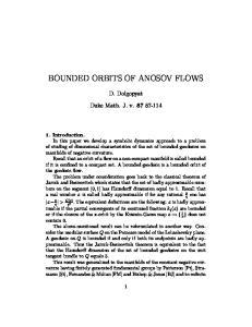 BOUNDED ORBITS OF ANOSOV FLOWS