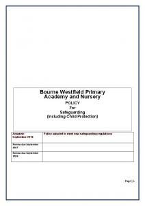 Bourne Westfield Primary Academy and Nursery