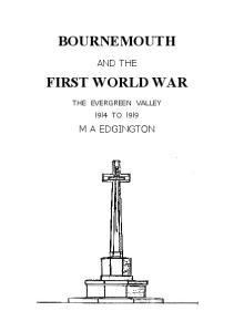 BOURNEMOUTH FIRST WORLD WAR