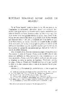 BOVEDAS ROMANAS SOBRE ARCOS DE RESALTO*
