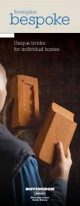 Bovingdon. bespoke. Unique bricks for individual homes
