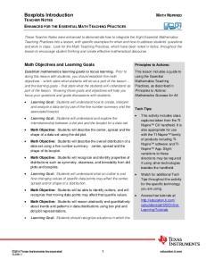 Boxplots Introduction TEACHER NOTES