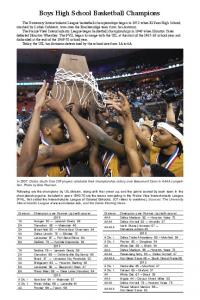 Boys High School Basketball Champions