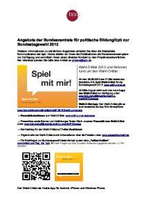 bpb zur Bundestagswahl 2013