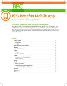 BPC Benefits Mobile App