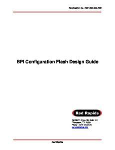 BPI Configuration Flash Design Guide