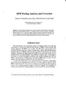 BPM Testing, Analysis, and Correction