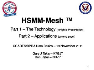 BPRA Ham Basics 19 November 2011