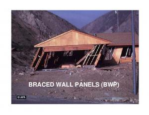 BRACED WALL PANELS (BWP)