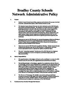 Bradley County Schools Network Administrative Policy