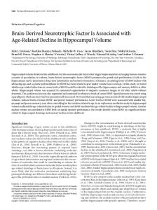 Brain-Derived Neurotrophic Factor Is Associated with Age-Related Decline in Hippocampal Volume