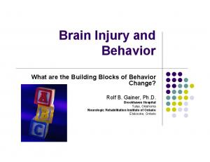Brain Injury and Behavior