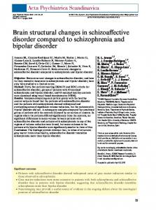 Brain structural changes in schizoaffective disorder compared to schizophrenia and bipolar disorder