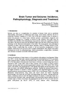 Brain Tumor and Seizures: Incidence, Pathophysiology, Diagnosis and Treatment