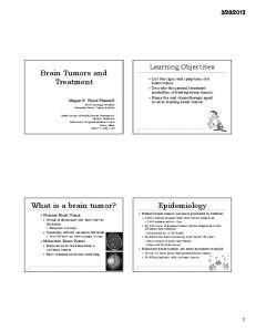 Brain Tumors and Treatment